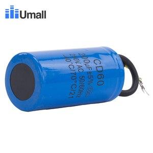 Image 3 - Condensateur de démarrage pour moteur électrique, 200uF, 250V AC, CD60, compresseurs dair, deux fils rouge, jaune