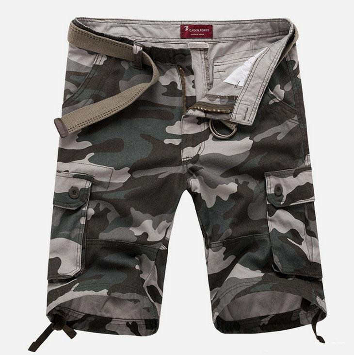 ZOEQO Новые мужские повседневные камуфляжные свободные мужские шорты Карго большой размер мульти-карман военные короткие брючные комбинезоны бермуды masculina - Цвет: army green