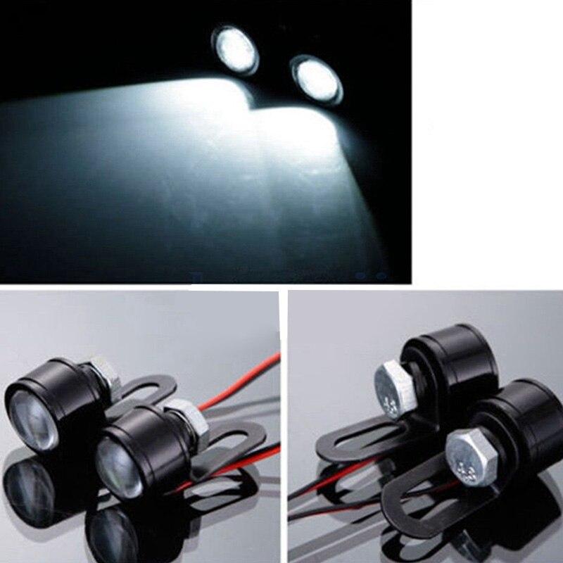 Image 3 - 2Pcs 12V Motorcycle White LED Spotlight Headlight Driving Light Fog Lamp 21.5*20*47mm spotlight accessories car work Fog light-in Electromobile from Automobiles & Motorcycles