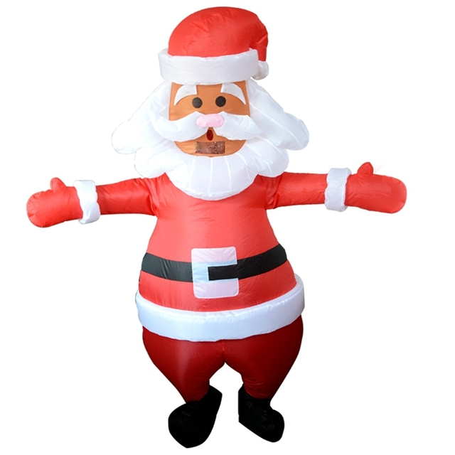 santa claus inflatable costume christmas mens funny cosplay halloween blow up suit