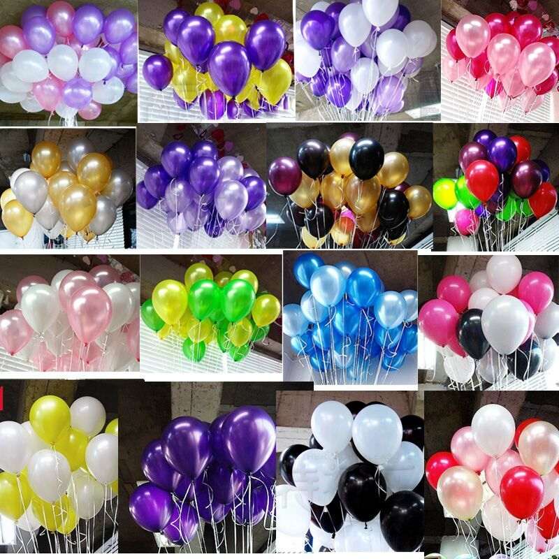 20pcs/lot 10 inch1.2g Latex balloon Helium Round balloons 16colors Thick Pearl b