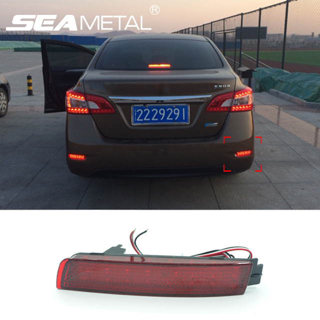 Car Rear Bumper Brake Lights Reflector LED Brake Warning ...