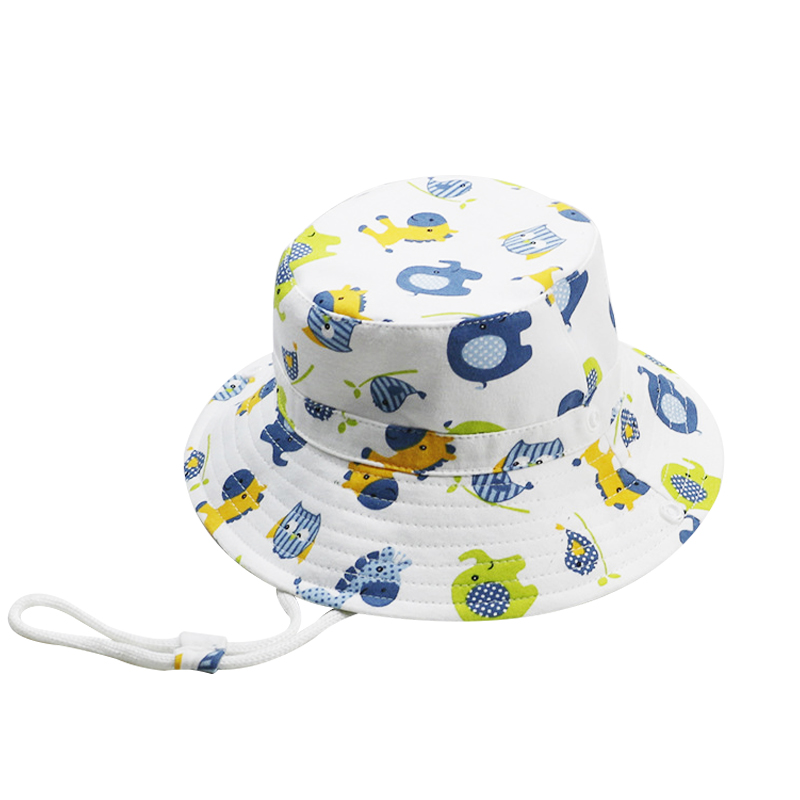 Summer Children Cartoon Animals Fisherman Hat Kids Cute Sun Beach Hats Baby Cartoon Children Breathable Hat Straw Hat Kids Hat(China)