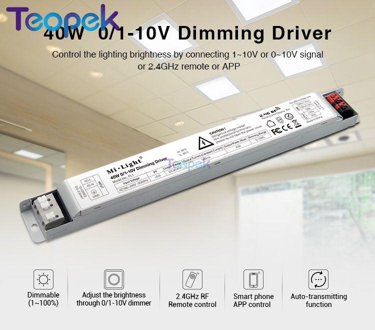 Dimmer Milight Pl1 40 Watt 0/1-10 V Platte Lampe Controller Led Dimmen Panel Fahrer Dimmbare Dc30-40v Ausgang Konstante Strom 900ma Zu Verkaufen
