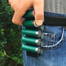 12 Gauge Shotshellกระสุน 10 รอบด้วยคลิปเข็มขัดหรือกางเกงยุทธวิธีการล่าสัตว์ 12GA Shotgun Shells Holder
