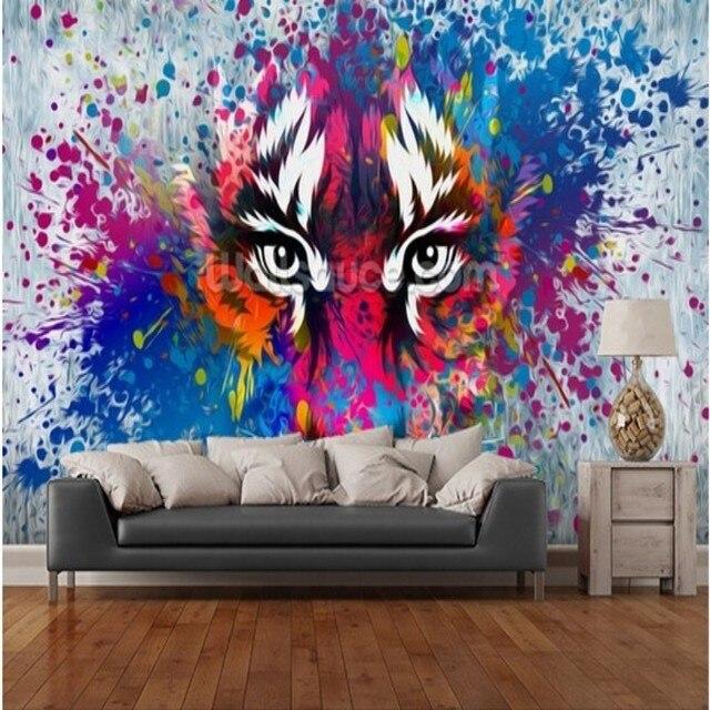 Beibehang Kundenspezifische retro tapete tiger Art, 3D tapeten für ...