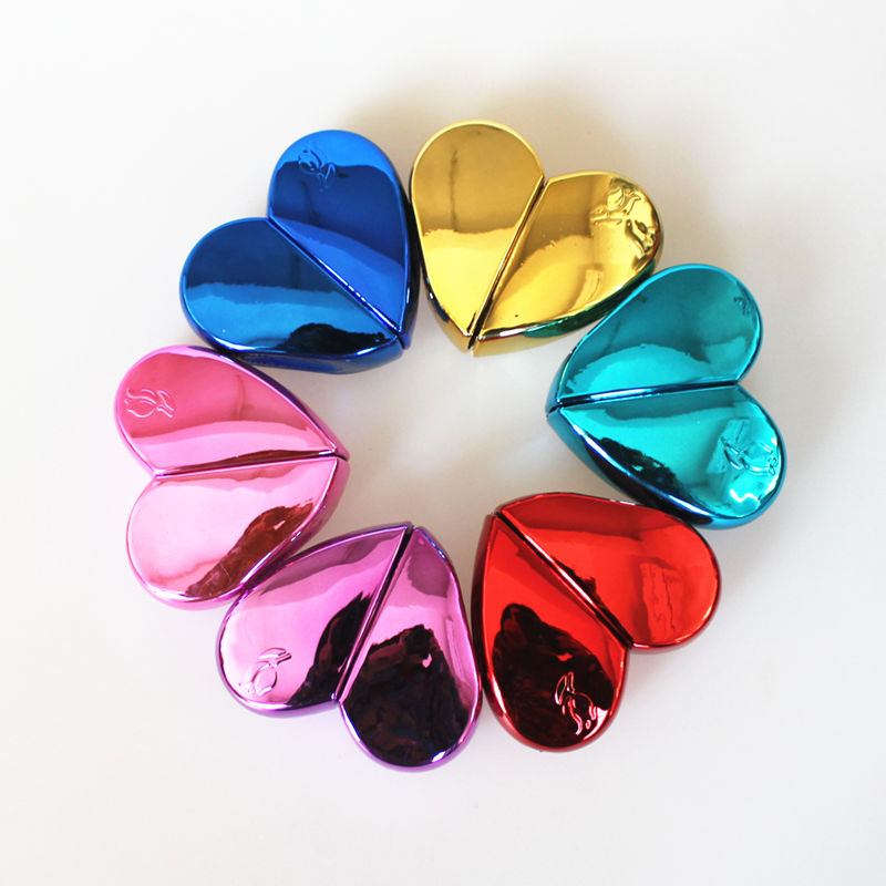 1PC 25ml Heart Shaped Glass Perfume Bottles With Spray Refillable Empty Perfume Atomizer For Women 6COLORS