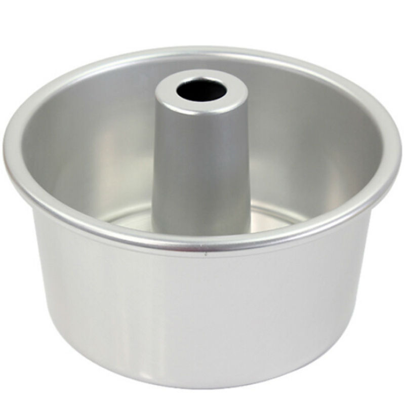 8 Inch Anodized Aluminum Round Chiffon Cake Pan Mold In