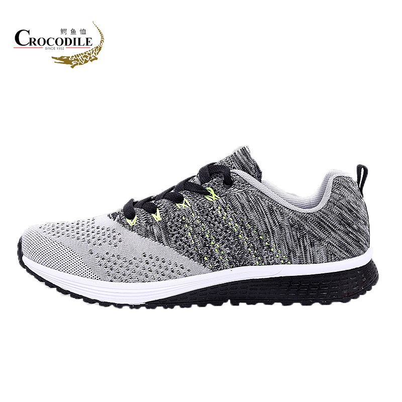 Crocodile Original 2018 New Athletic Running Shoes For Men Mesh Breathable Jogging Sport Shoes Men Sneakers Male Flat Trainers 2016 new air cushion running shoes for men brand trainers sport shoes breathable athletic sneakers men training runners air