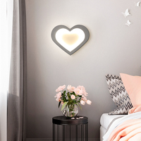 New 9W Acrylic Creative Modern Led Wall Light For Living Room Bedside Room Bedroom Lamp Wall Sconce Wall Lamp Grey/White Color