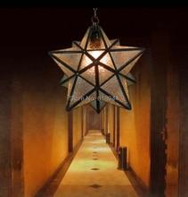 Современная и короткая креативная лампа для увлеченных искусством спальни лампа для ресторана, бара кафе пятиконечная звезда подвесные светильники, бесплатная доставка