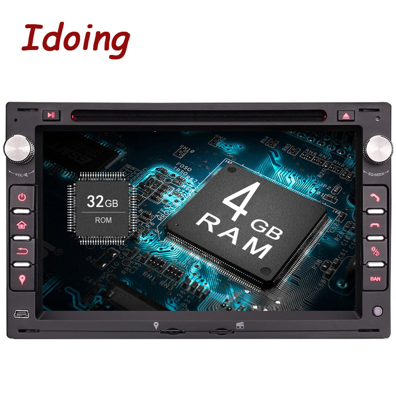 Idoing Android9.0 4G+32G 8Core 2Din Steering Wheel For Polo Passat b6 Car Multimedia Player Fast Boot TV 1080P HDP