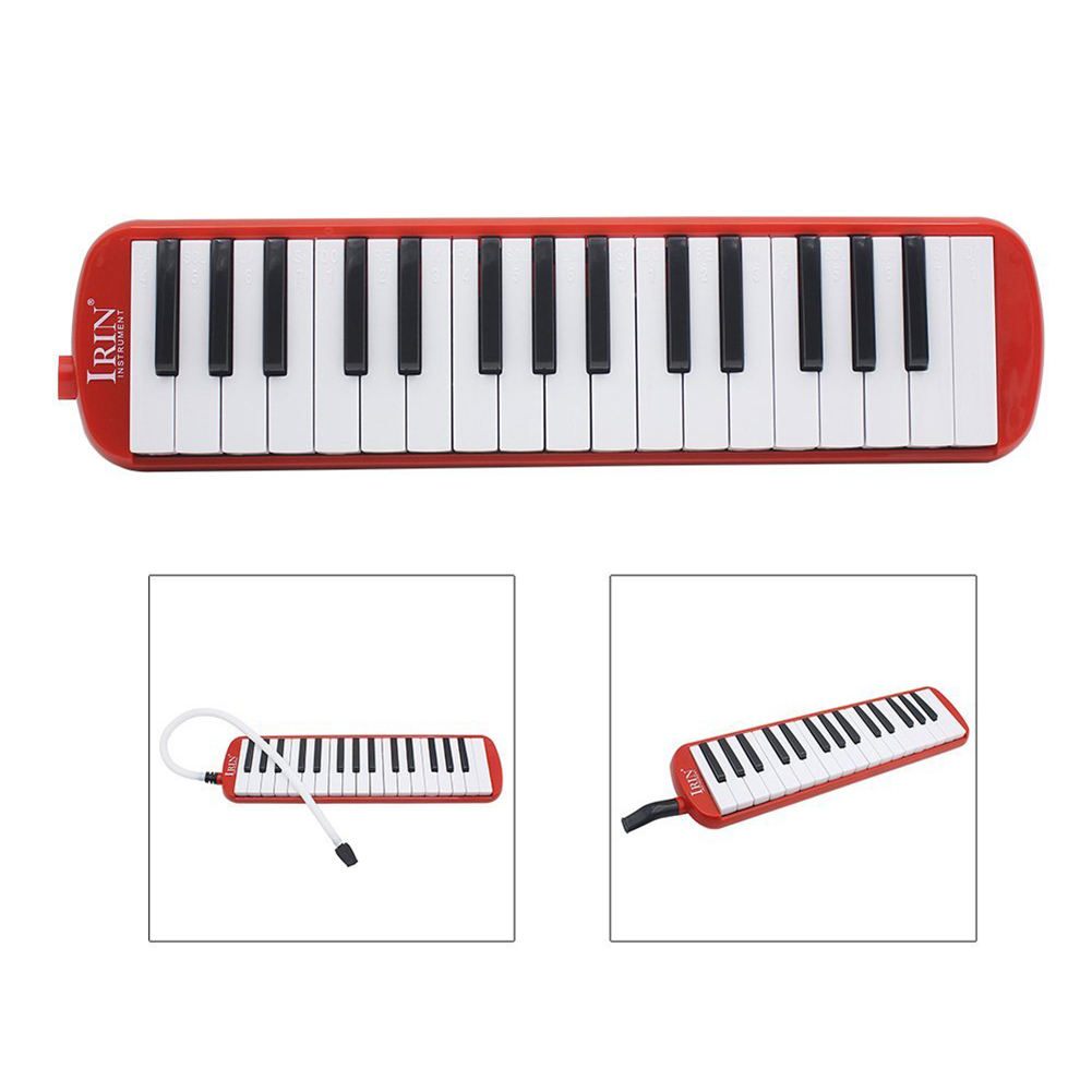 Red 37 Key Melodica Piano Keyboard Style with Mouthpiece /& Hose Tube Set /& Carrying Bag for Music Lovers Beginners