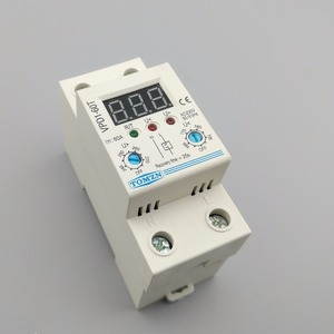 Image 4 - 60A 220V adjustable automatic reconnect over voltage and under voltage protection device relay with Voltmeter voltage monitor