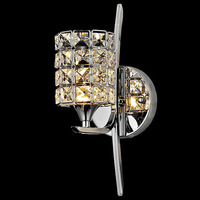 Brief K9 Modern Crystal Wall Lamp Bed Lighting Mirror Light Stair AC85 265V For Bedroom