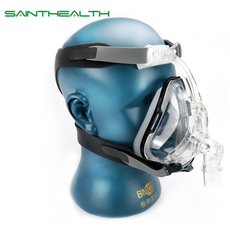 FM1 полный Уход за кожей лица маска для храпа применяются к Спецодежда медицинская CPAP bipap силиконовый гель Материал Размер S/M/L с Головные убор...