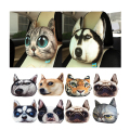 30X25cm Car Headrest Neck Pillow Back Rest Activated Carbon Breathe Pillow Neck 3D Dog Cat Face Seat Cover Head Neck Cushion Pad