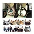 30X25cm Car Headrest Neck Pillow Back Rest Activated Carbon Breathe Pillow Neck 3D Dog Cat Face Seat Cover Head Neck Cushion Pad