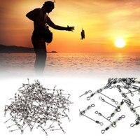 Высокое качество Фирменная новинка открытый Практичный Прочный 100 шт. 3 способ рыбалка pesca тройной прокатки поворотный светящиеся бусины но...