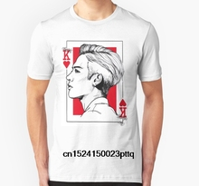 4ceedadf5a745 Moda Cool hombres camiseta mujeres camiseta Jackson Wang-Got7 loco  personalizado impreso camiseta(China