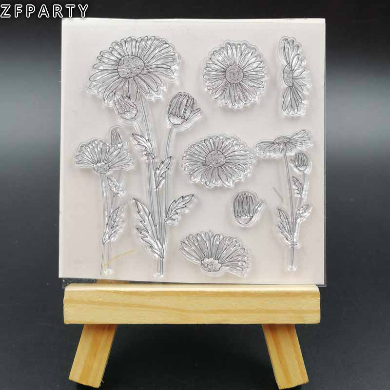 ZFPARTY Flowers Transparent Clear Silicone Stamp for DIY scrapbooking/photo album Decorative clear stamp christmas holiday wishes clear silicone rubber stamp for diy scrapbooking photo album decorative craft clear stamp chapter