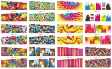 On sale !! 1 Lot=50sheets12 in one sheet  New Style Nail Art Water Sticker The butterfly, fish, flowers 2016 for BN109-120