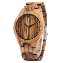 High Quality New Arrivals Nature Hand-made Wooden Bamboo Men's Quartz Watches Scale Dial Bracelet Clasp Casual Male Watch Gift
