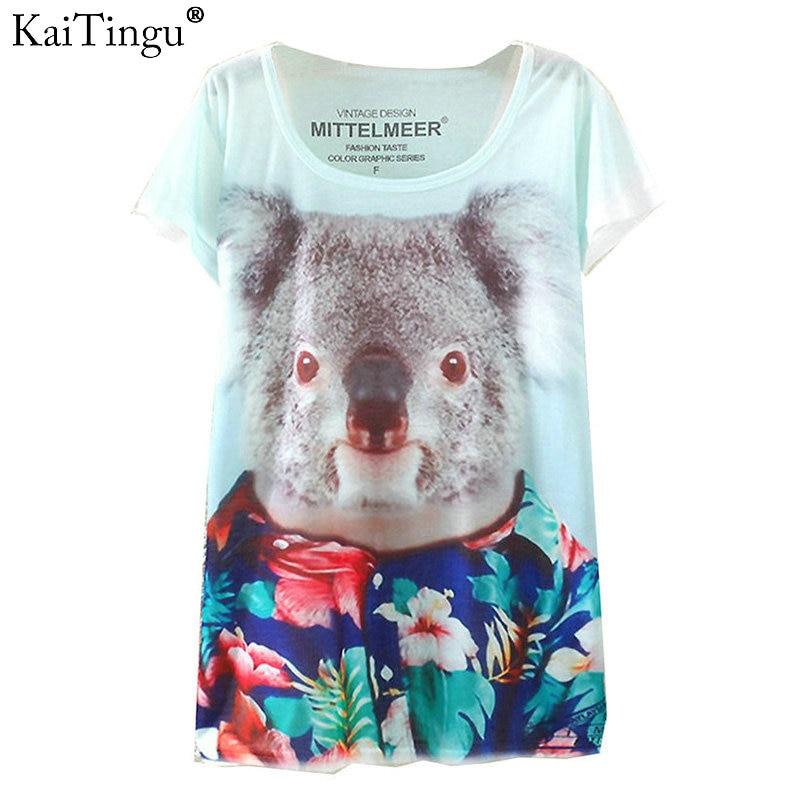 New Vintage Harajuku Fashion Summer 2017 Digital Print Short Sleeve T Shirt Women T-Shirt Clothing Cotton Print Tee Tops