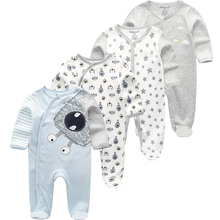 Одежда для малышей «унисекс» Детская одежда с длинными рукавами 3/4 шт комбинезон Одежда для новорожденных животных комбинезон; сезон осень; Пижама для мальчиков