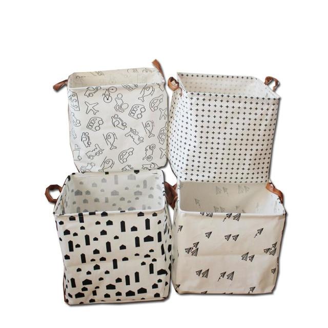 Nuevo lujo impermeable lavandería cesto plegable cestas decoración ...