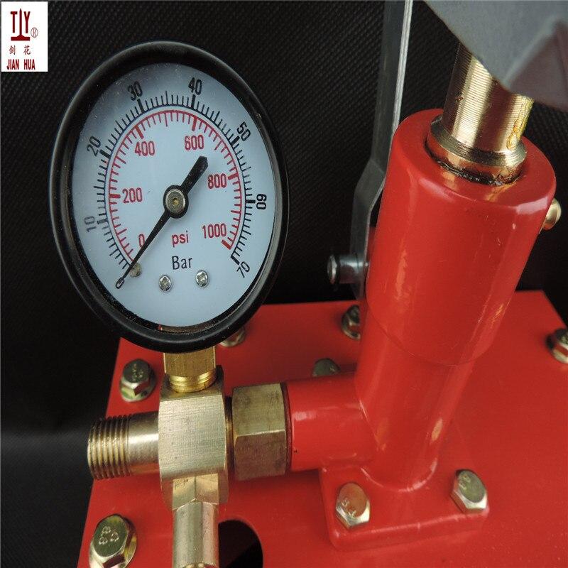 Livraison gratuite 5.0Mpa manuel pompe à eau à main, manuel pression de l'eau test pompe de transfert de carburant pompe hydraulique manuel vacu