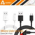Aukey teclado del teléfono cable de carga micro usb cable 2 m/6.6ft universal cable de carga para samsung htc sony xiaomi