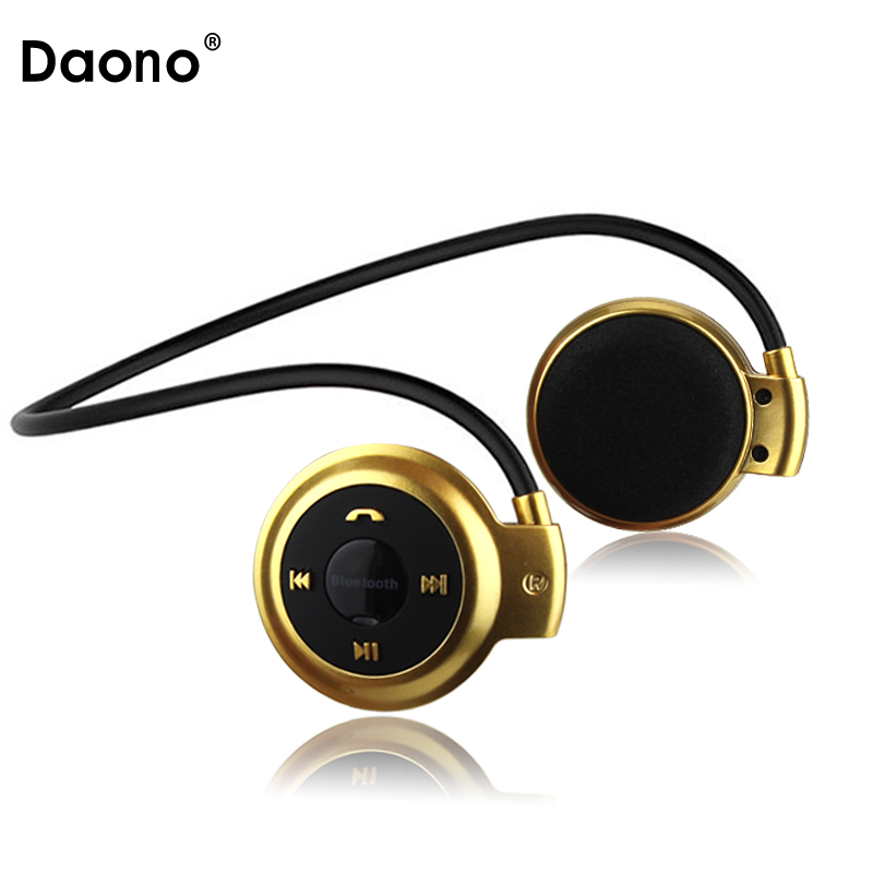DAONO MP3 Player Bluetooth Headphone, Wireless Sport Headset MP3 Player With FM Radio, Stereo Earphone TF Card MP3 Max To 32GB