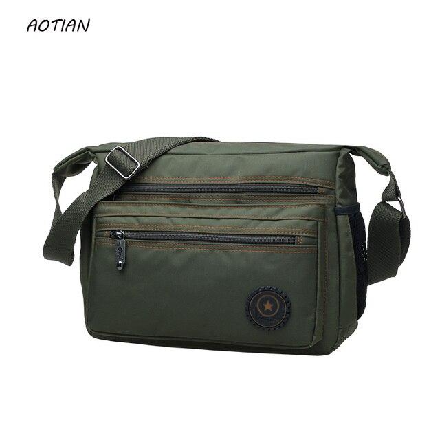 Лидер продаж 2018 мужские сумки через плечо высокого качества Мужская сумка мужской сумка классический дизайн мужские нейлон сумки водонепроницаемый
