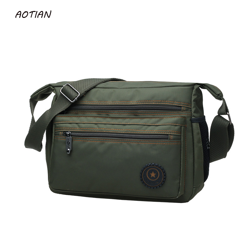 Hot sell 2018 men messenger bags high quality men's travel bag male shoulder bag classical design men's Nylon bags waterproof