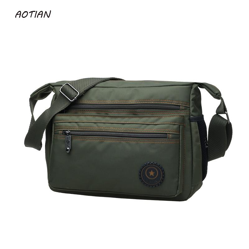 Hot Sell 2019 Men Messenger Bags High Quality Men's Travel Bag Male Shoulder Bag Classical Design Men's Nylon Bags Waterproof