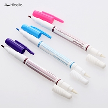 Hicello 1pc Double Head Erasable Pens Water Soluble Fabric Dual Function Cross Stitch Grommet Ink Marking Pen DIY Sewing Tool