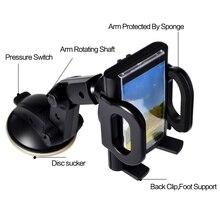 Universele 360 Graden Draaibare Auto styling Mobiele Telefoon Holder Voorruit Zuignap Voor IPhone 5 5s 6s 7 plus Telefoons GPS