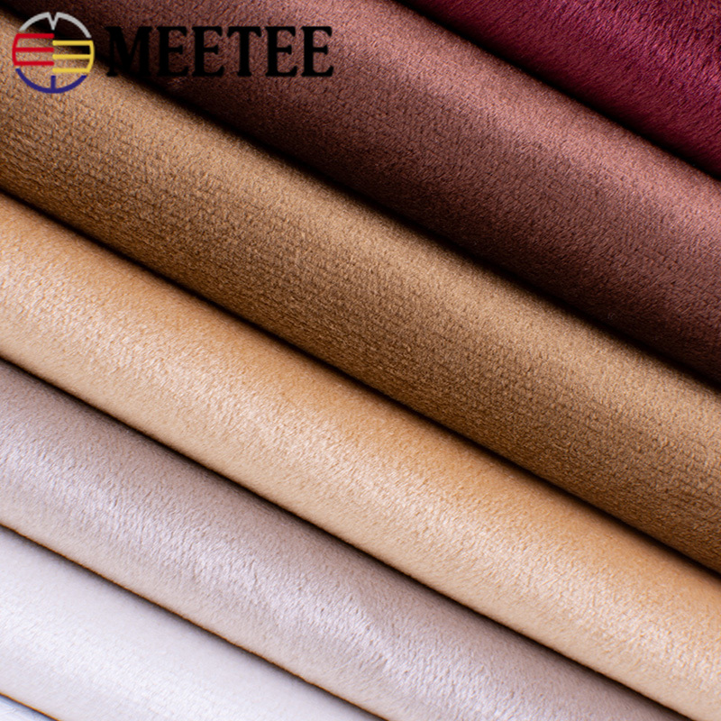Meetee 50/100X150cm Gold Velvet Fabric Pillow Flannel Short Plush Cloth DIY Clothing Home Textile Sewing Decorn Material FA008