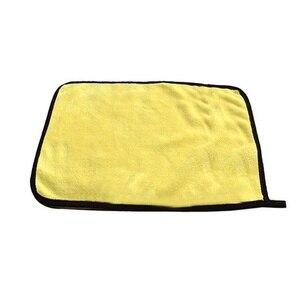 Image 2 - 2019 ขนาด 30*30CMผ้าเช็ดตัวไมโครไฟเบอร์ทำความสะอาดผ้าHemming Car Careผ้ารายละเอียดรถผ้าขนหนูสำหรับToyota