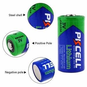 Image 2 - 4 X PKCELL 2/3A pil CR123A CR123 CR 123 CR17335 123A CR17345(CR17335) 16340 3V lityum pil piller için kamera