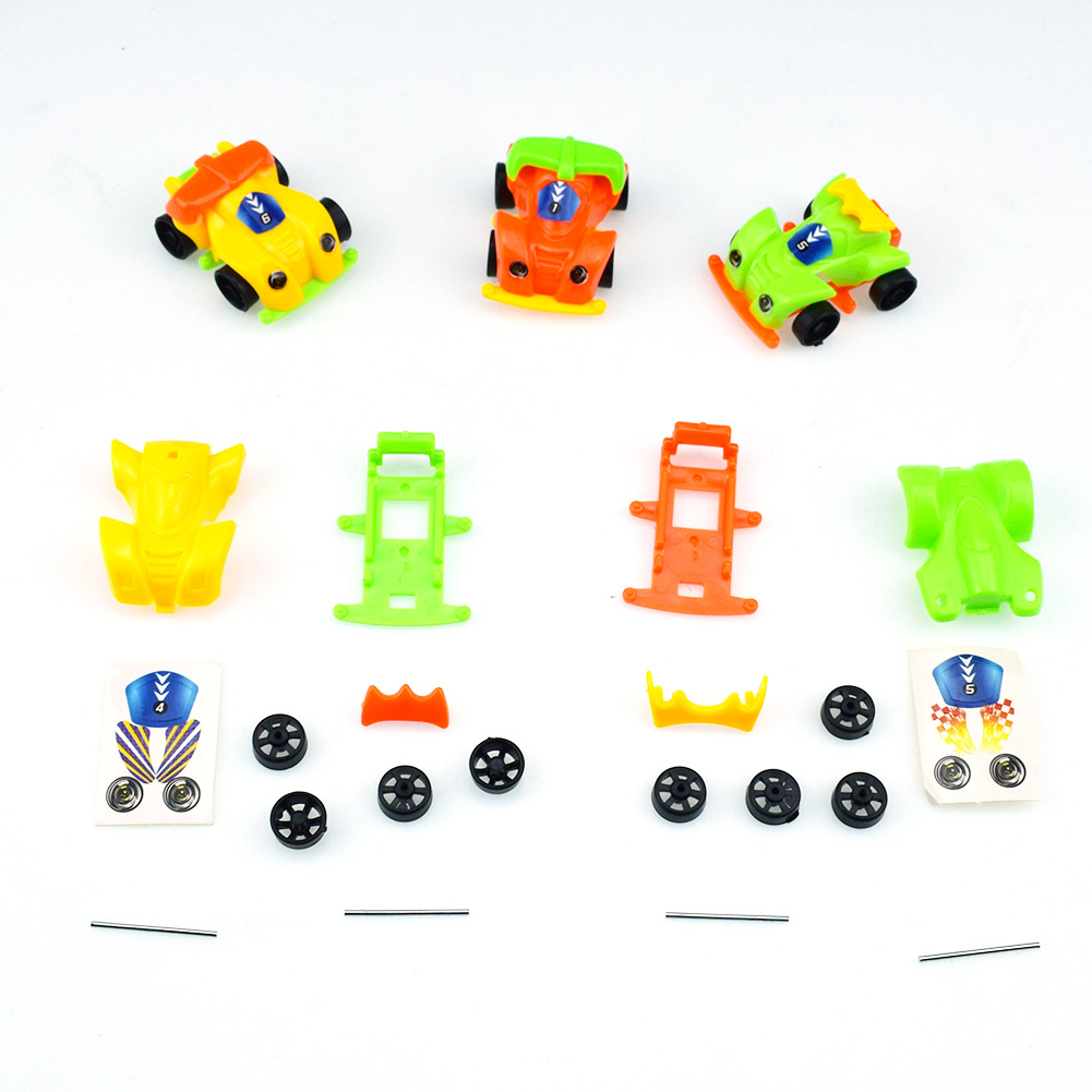 3pcs/lot Novelty DIY Assemble Car Self-Locking Bricks Toys for Kids Gift