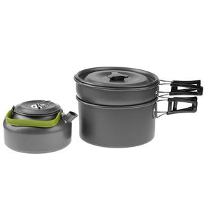 Image 4 - 3Pcs Camping cookware Outdoor cookware set camping tableware cooking set travel tableware Cutlery Utensils hiking picnic set