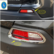 Yimaautotrims Auto Accessory Rear Tail Fog Lights Foglight Lamp Decoration Cover Trim Bright Red Look For JEEP Cherokee 2019 ABS