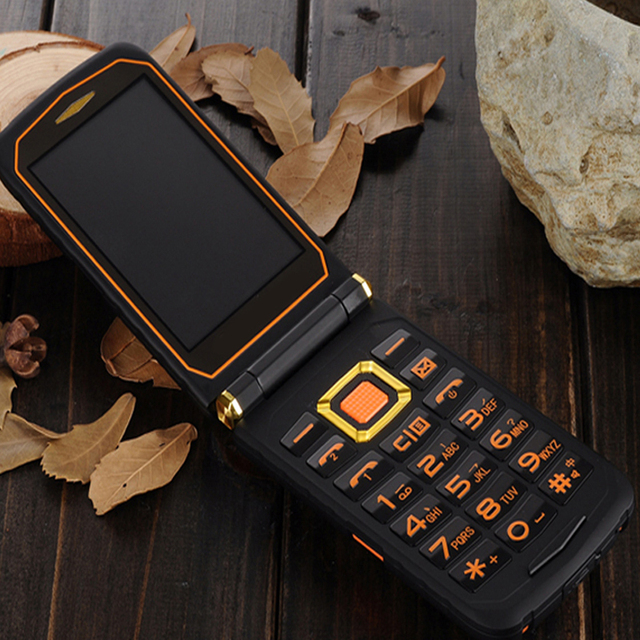 MAFAM Land Flip phone Rover X9 Double dual Screen shockproof Dual SIM long standby FM mobile phone for old people senior P008