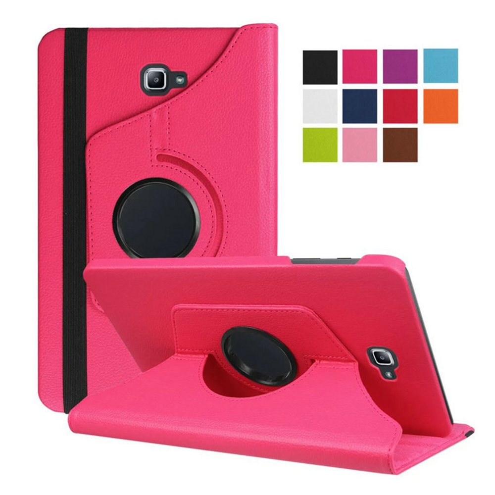 360 Degree Rotating Folio PU Leather Case Flip Cover 10.1 Inch For Samsung Galaxy Tab A T585 T580 Tablet Case