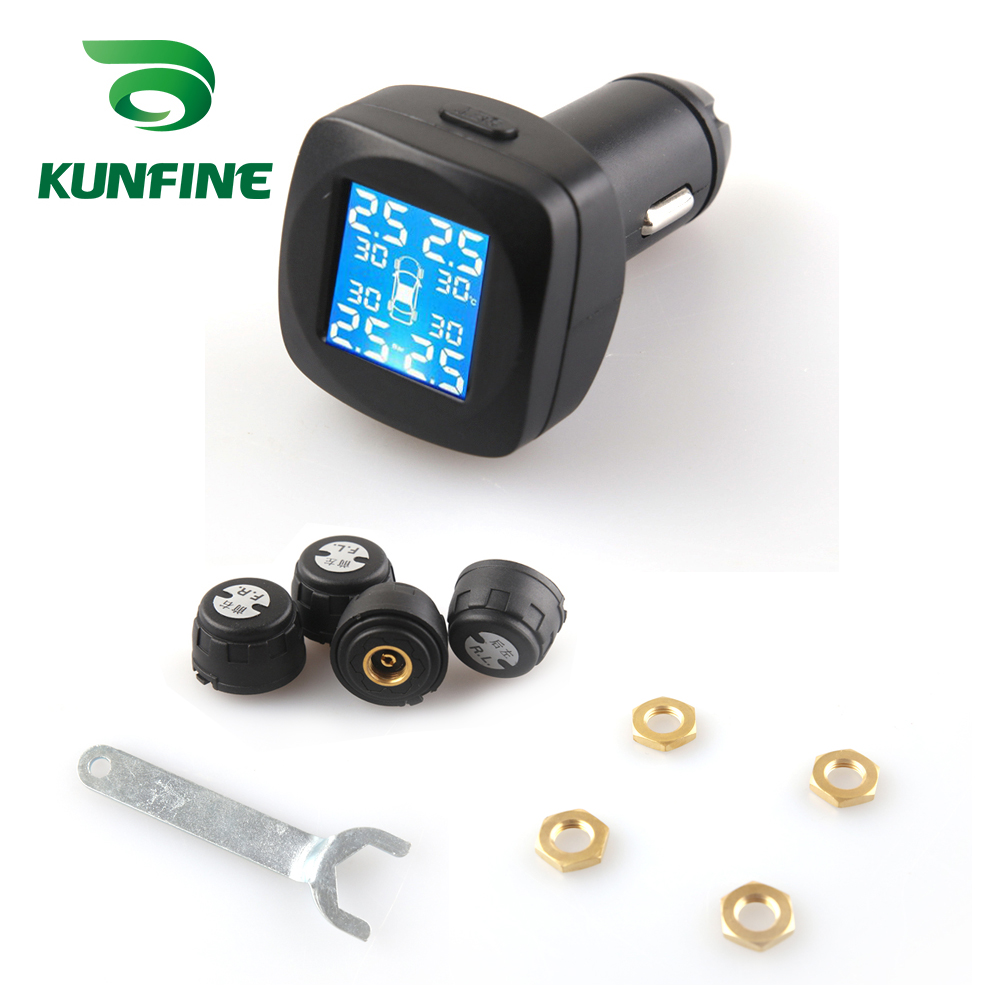 Smart Car TPMS Tyre Pressure Monitoring System cigarette lighter Digital LCD Display Auto Security Alarm Systems (6)