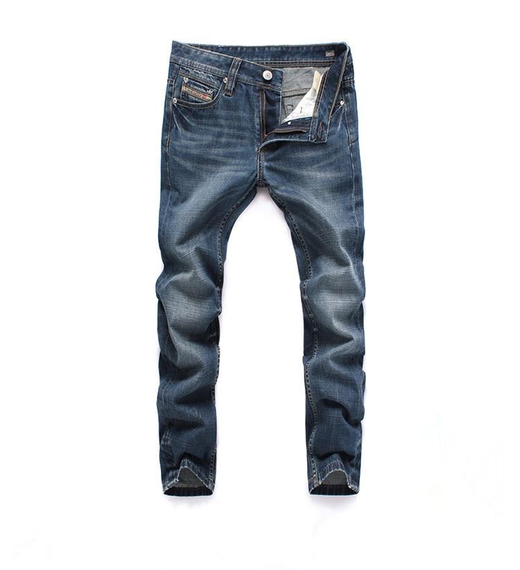2017 Famous Designer Brand Upscale Cotton High Quality Men Jeans Trouser Straight  Casual Style Pant for Male Jeans  new famous brand man jeans cotton fashion leisure man jeans men straight designer jeans casual jeans pant plus size