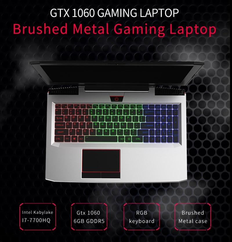 """HTB1CWwZXzqhSKJjSspnq6A79XXaf BBEN G16 15.6"""" GTX1060 Intel Core i7 7700HQ Gaming Laptops DDR4 8G/16G/32G RAM 256G/512G SSD,1TB/2TB HDD Pro Windows10 computers"""