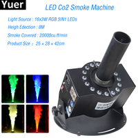 2018 New LED Co2 Fog Smoke Machine Wired Remote Control 100W For Halloween Wedding Function Home Disco DJ Party Club Pub Holiday